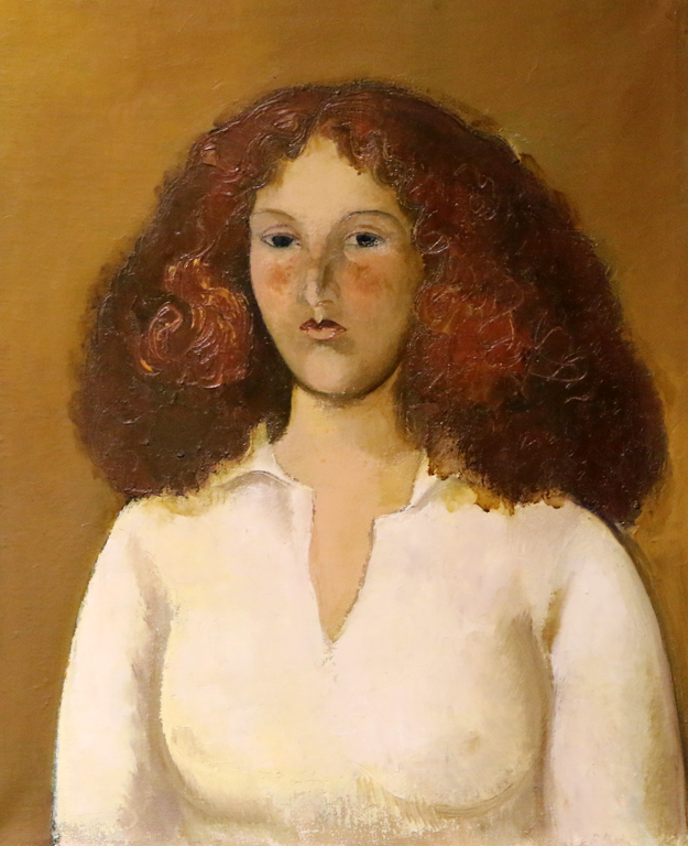 Бисера Прахова, портрет на Червенокосо момиче 1979г.