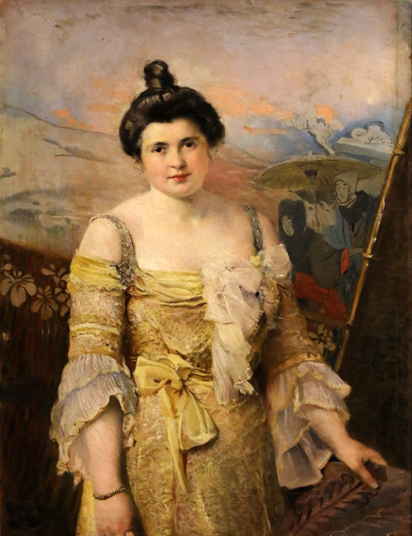 Иван Мърквичка, дамски портрет в жълто