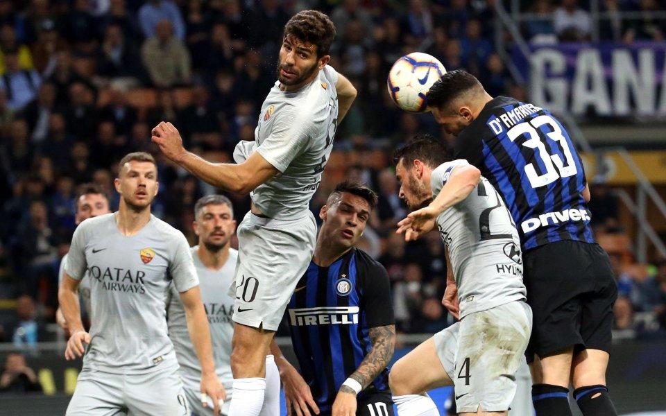 Отборите на Интер и Рома играят един срещу друг в