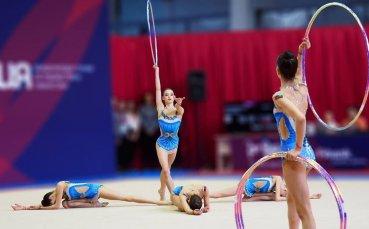 Ансамбълът на България за девойки четвърти във финала  с пет обръча в Баку