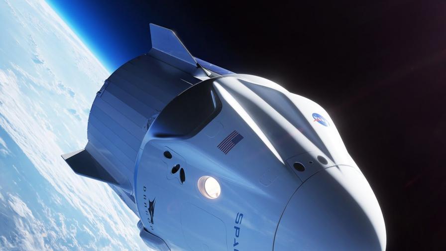 Илюстрация на Crew Dragon на SpaceX