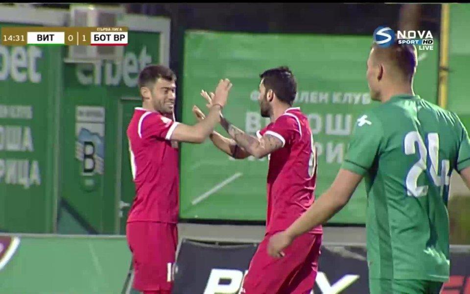Гостите от Ботев Враца направиха страхотно контранападение в 15-ата минута,