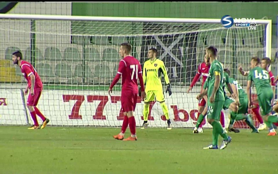 Витоша Бистрица губи със сериозното 1:4 на почивката срещу Ботев