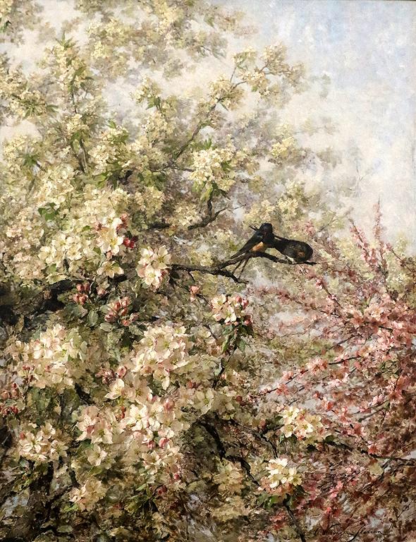 Олга Визингер-Флориан Австрия Лястовички сред цъфнали ябълкови клони 1893г.