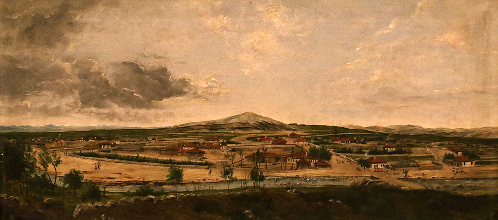 Иван Ангелов Пейзаж от Сливница 1888г. описана в архивите като част от царската колекция