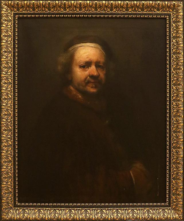 Никола Михайлов Копие по Рембранд-Автопортрет 1898-1899г. Част от колекцията на цар Фердинанд