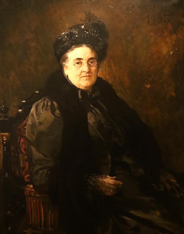Иван Мърквичка Портрет на Смарайда Салабашева 1905г.