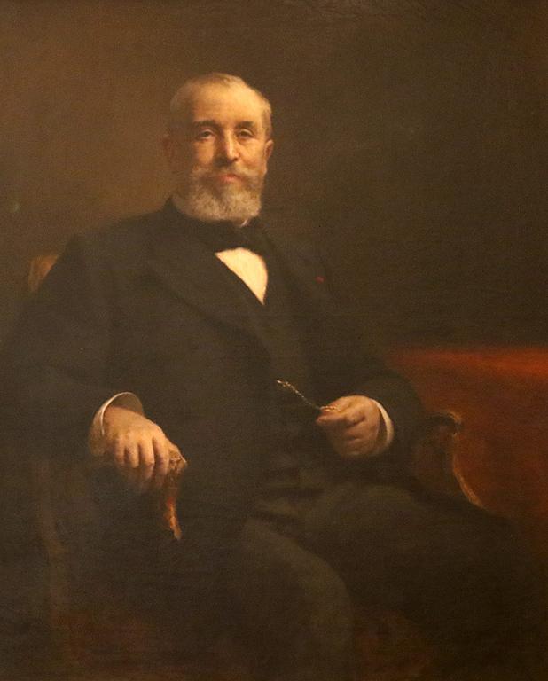 Алберт Ламбер Портрет на Емил Лубе, президент на Френската република 1905г.