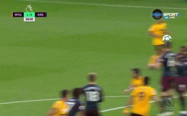 Уулвърхемптън - Арсенал 3:0 /първо полувреме/