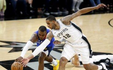 Сан Антонио изравни на Денвър на Запад в НБА