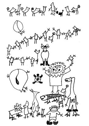<p>Оригиналните скици на Йордан Радичков за &quot;Ние, врабчетата&quot;</p>