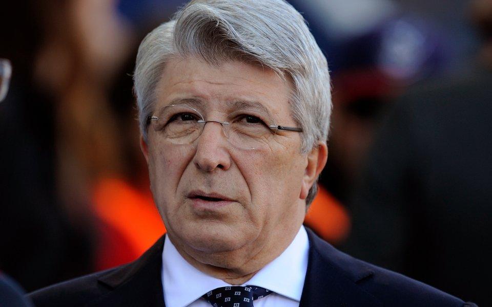 Президентът на Атлетико Мадрид Енрике Сересо изрази разочарованието си от