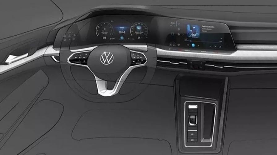 Така ще изглежда интериорът на новия Volkswagen Golf