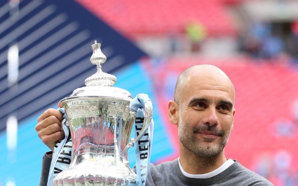 Мениджърът на Манчестър Сити Хосеп Гуардиола заяви, че спечелването на