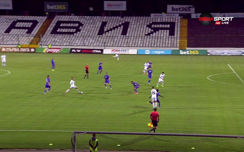 Славия организира опасна атака в 59-та минута на мача срещу