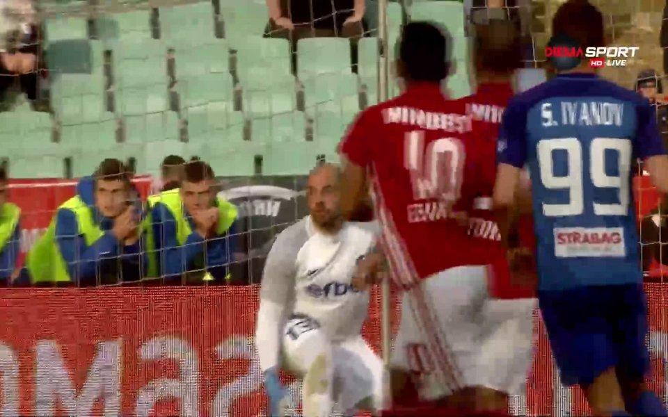 ЦСКА поведе на Левски в 70-ата минута на мача от