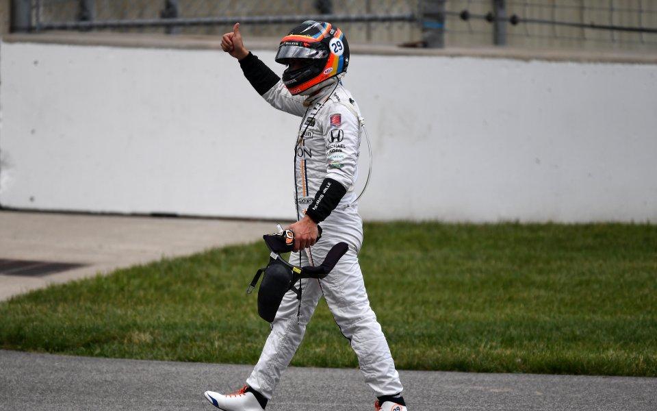 Алонсо направи тест с болида на Рено от 2018