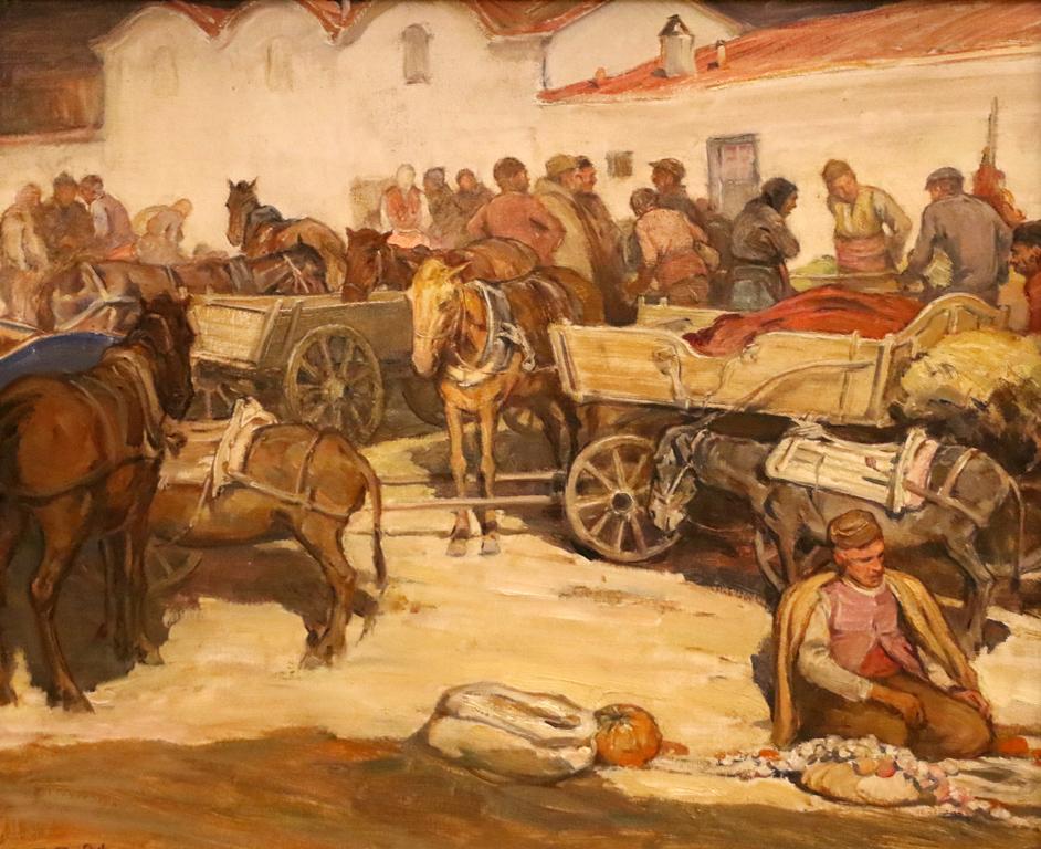 Пазар в Сливен 1938