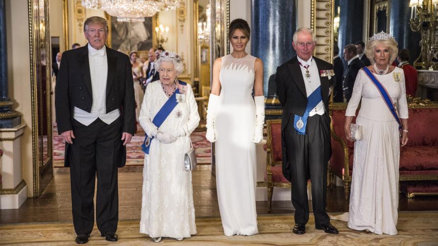 Доналд Тръмп и семейството му в Лондон