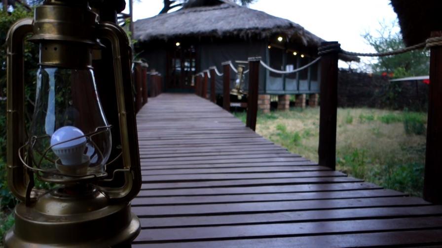 Какво е да спиш в палатка сред лъвове, слонове и леопарди