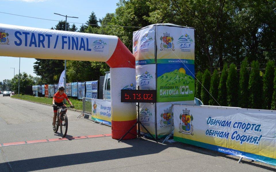 За първи път обиколиха Витоша под 4 часа с велосипед
