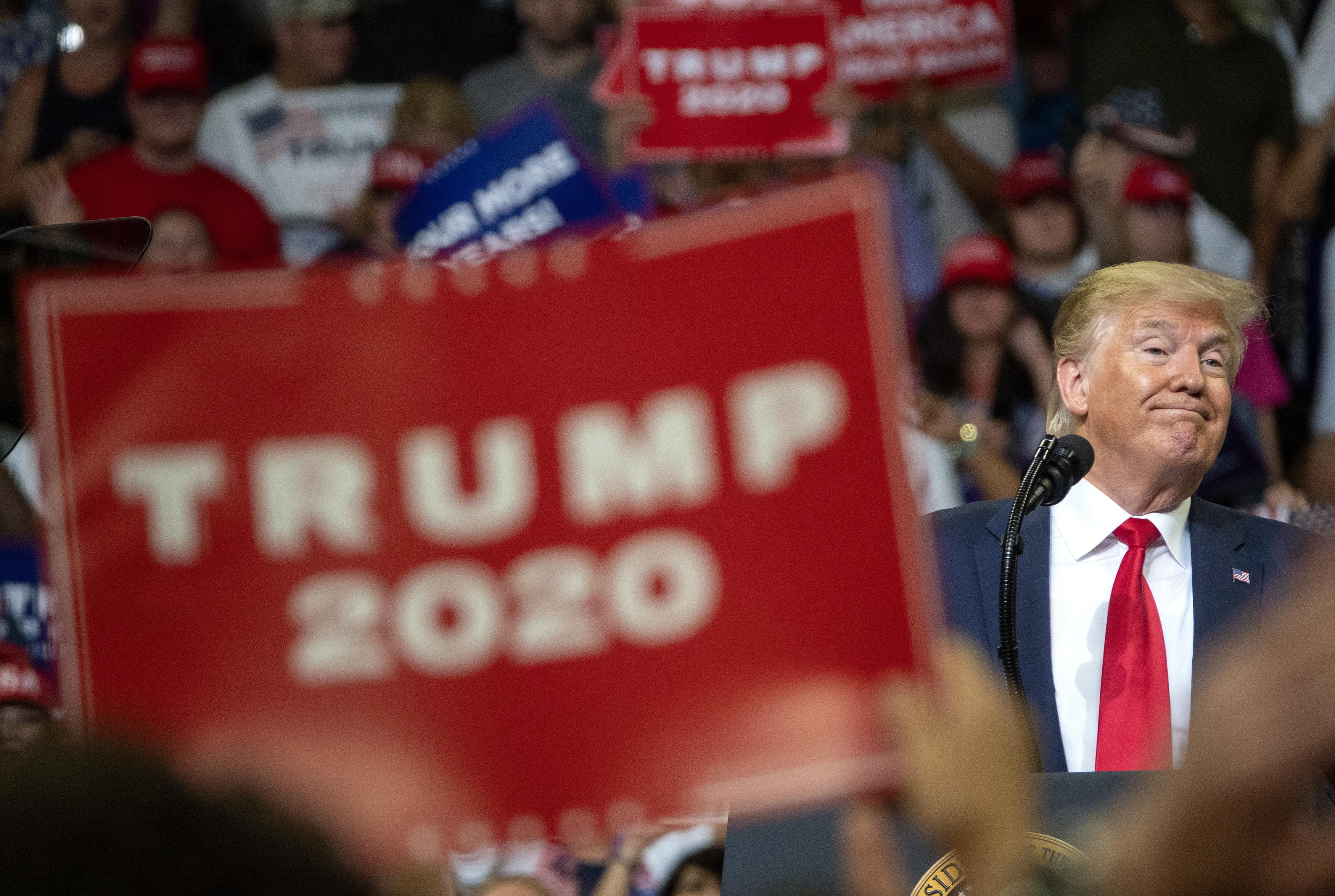Президентът на САЩ официално откри кампанията си за втори мандат на президентските избори през 2020 г. Снимките са от Орландо, Флорида (18 юни, 2019 г.)