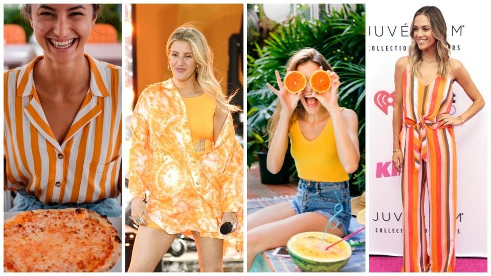 оранжево мода