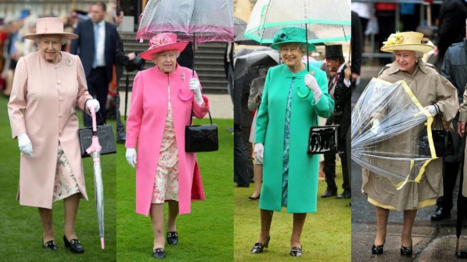 Кралица Елизабет II  - по един чадър за всяка рокля