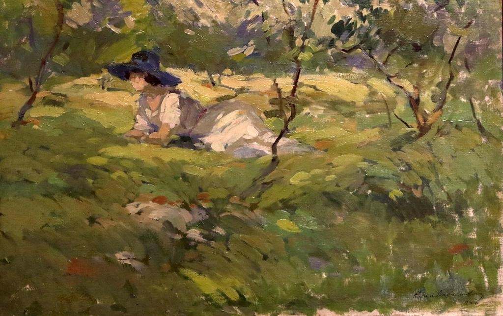 В градината 1920г.