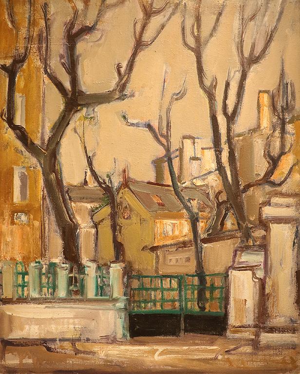Тодор Хаджиниколов (1920 – 1999) Градски пейзаж, 70-те г. на ХХ в.