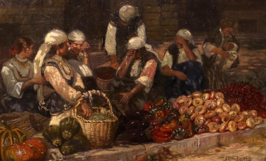Антон Митов Пазар 1920г.