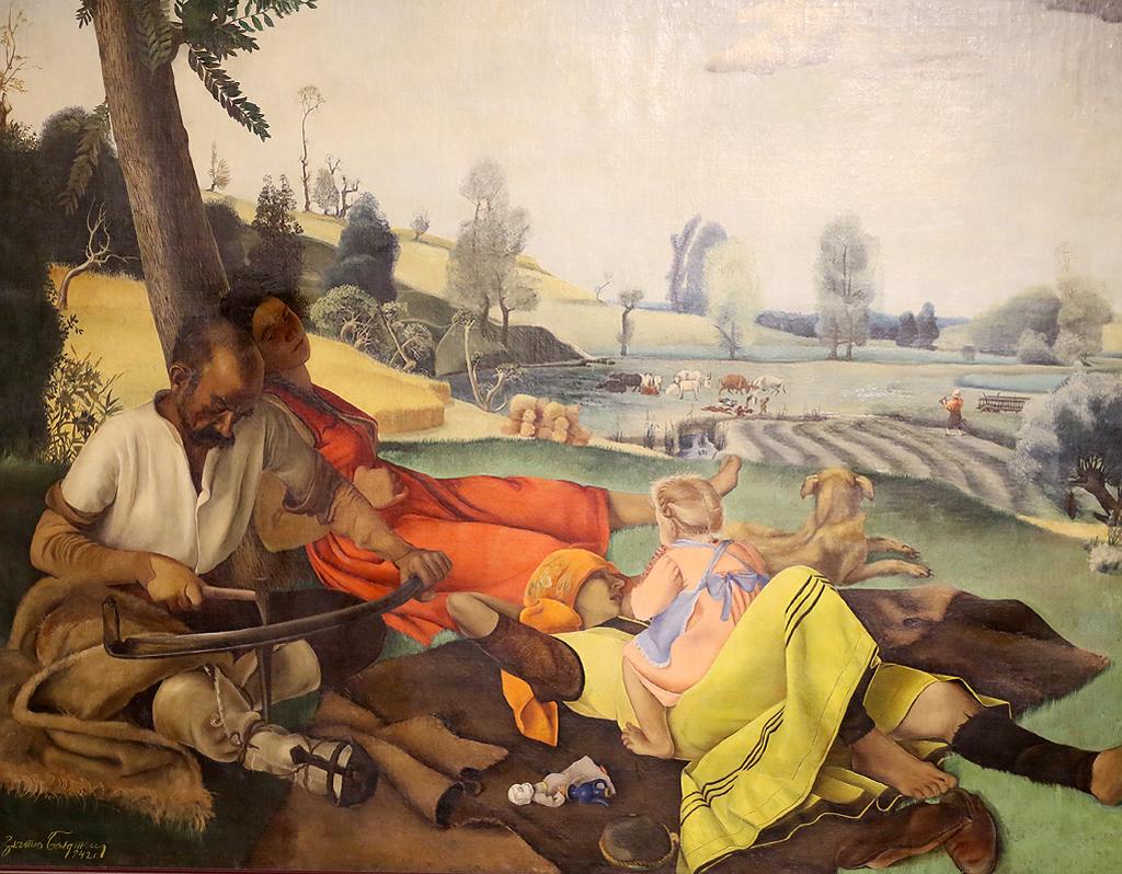Златю Бояджиев Сенокос - почивка 1942г.