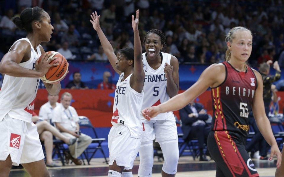 Голяма драма и Франция отиде на 1/2-финала при жените по баскетбол