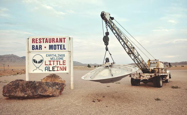 "Хотел Little ALeInn, близо до ""Зона 51"", Невада, САЩ"
