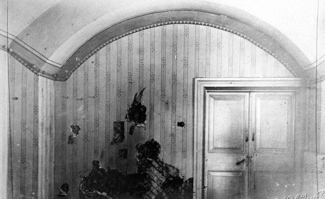 Стаята, в която семейството е разстреляно