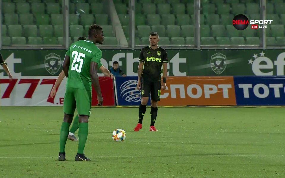 Шампионът на България Лудогорец имаше нужда от цялото търпение на