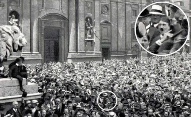 1914: Манифестация на Одеонсплац в Мюнхен