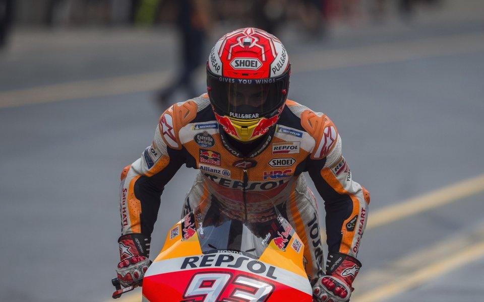 Маркес увеличи преднината си на върха в MotoGP с победа в Бърно