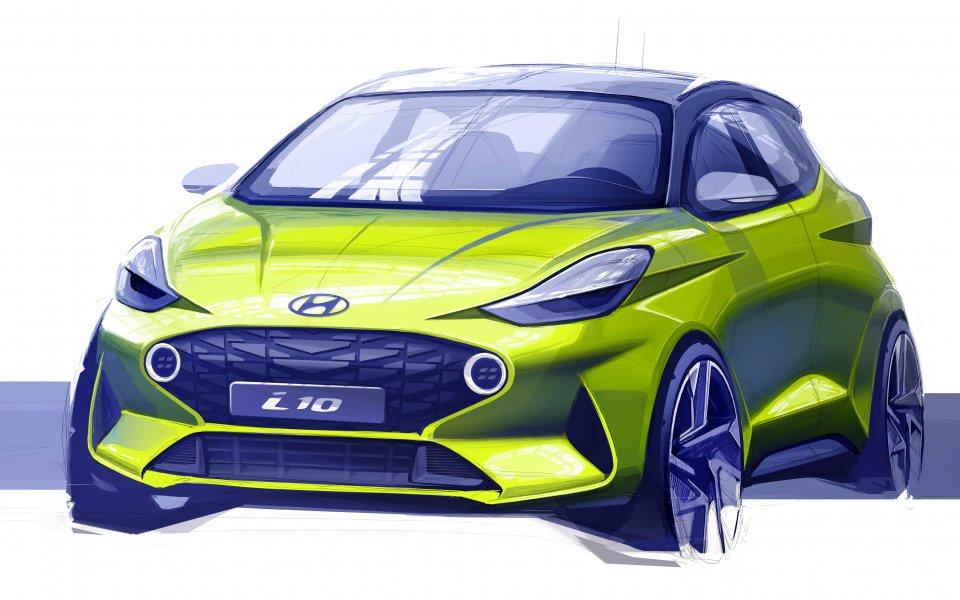 Представиха първа официална скица на новото поколение Hyundai i10