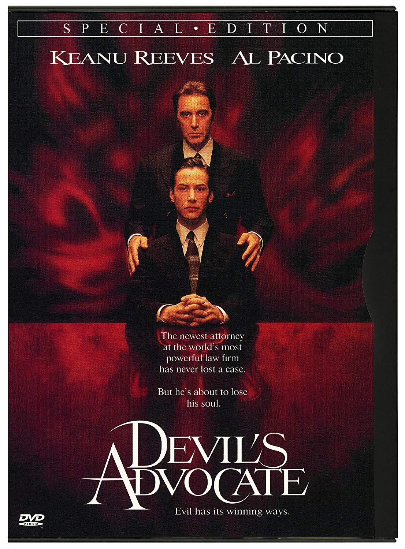 <p>The Devil&rsquo;s Advocate / &bdquo;Адвокат на дявола&ldquo; &ndash; 1997; Режисьор: Тейлър Хакфорд; Участват: Ал Пачино, Киану Рийвс, Чарлийз Терон</p>