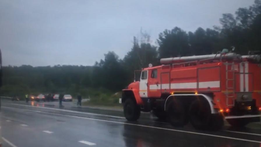 <p>Мълния взриви военен склад в Русия</p>