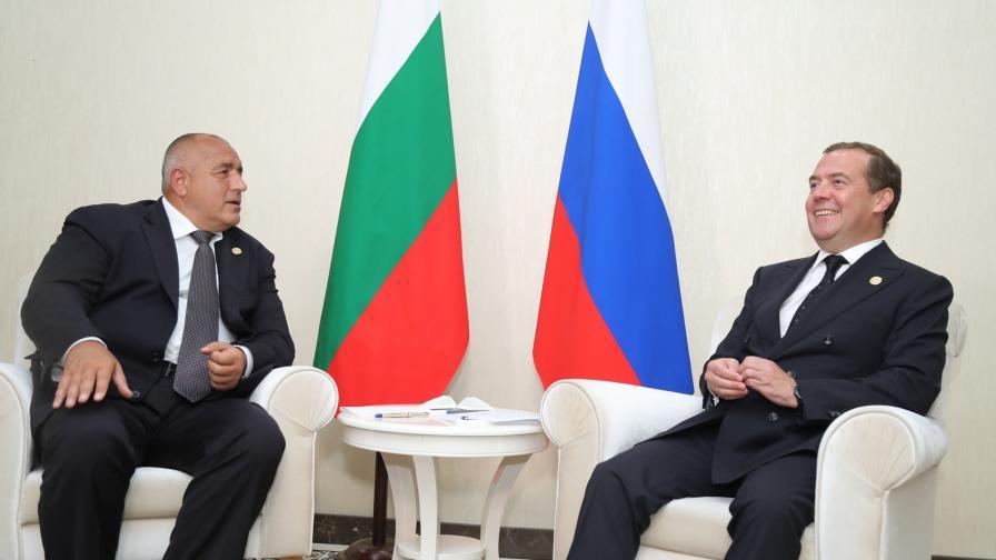 """Доставките на газ и АЕЦ """"Белене"""" сред темите между Борисов и Медведев"""