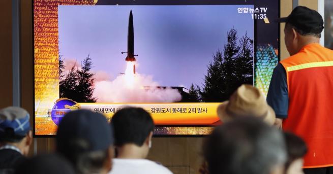 Свят КНДР изстреля ракети: Никога повече преговори с Юга хСнарядите