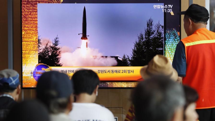 <p>КНДР изстреля ракети: Никога повече преговори с Юга</p>