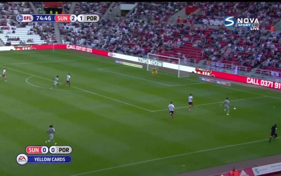Отборът на Съндърланд записа първа победа в Лига 1 през
