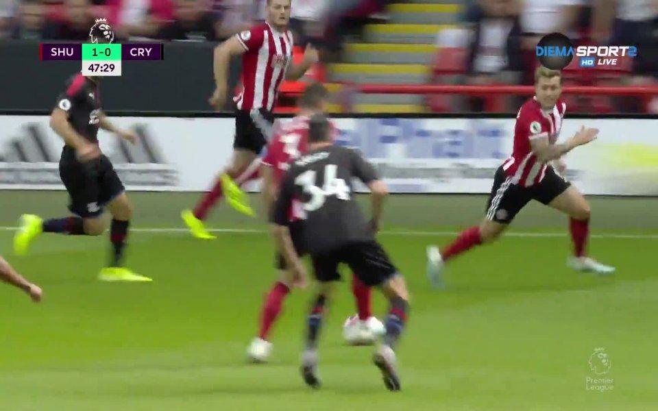 Шефийлд Юнайтед поведе на Кристал Палас с 1:0 в двубой
