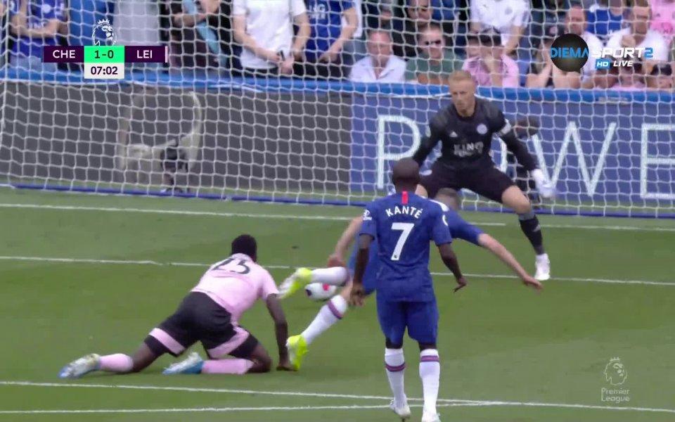 Челси достигна до първия си гол във Висшата лига. Това