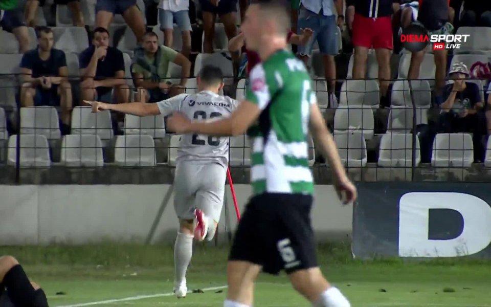 Лудогорец поведе с 2:1 в двубоя срещу Черно море след