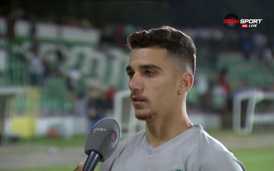 Авторът на първия гол за Лудогорец в гостуването на Черно