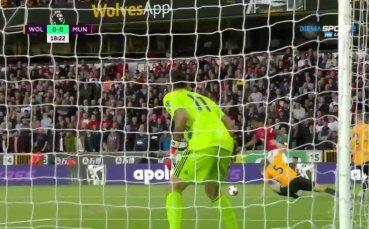 Уулвърхемптън - Манчестър Юнайтед 0:1 /първо полувреме/